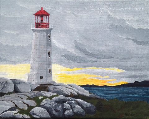Peggys Cove Painting